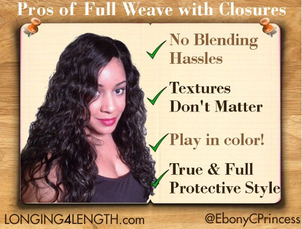 Pros & Cons of Wearing a Full Sew-In Weave with a Closure #L4LHair ...