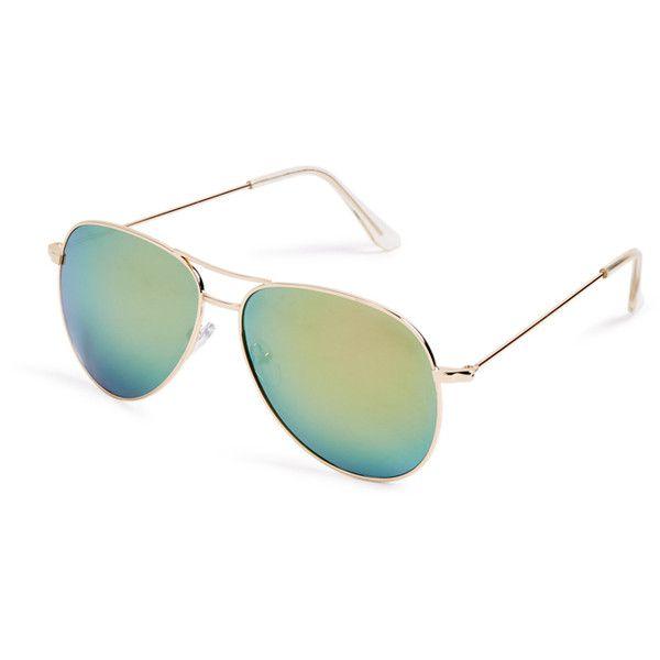 ShoeDazzle Fashion Accessories Aruba Aviator Sunglasses Womens... ❤ liked on Polyvore featuring fashion accessories