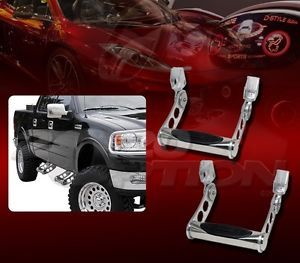 PAIR BULLY ALUMINUM TRUCK SIDE STEP NERF BAR FOR MERCEDES-BENZ CHEVY GMC FORD