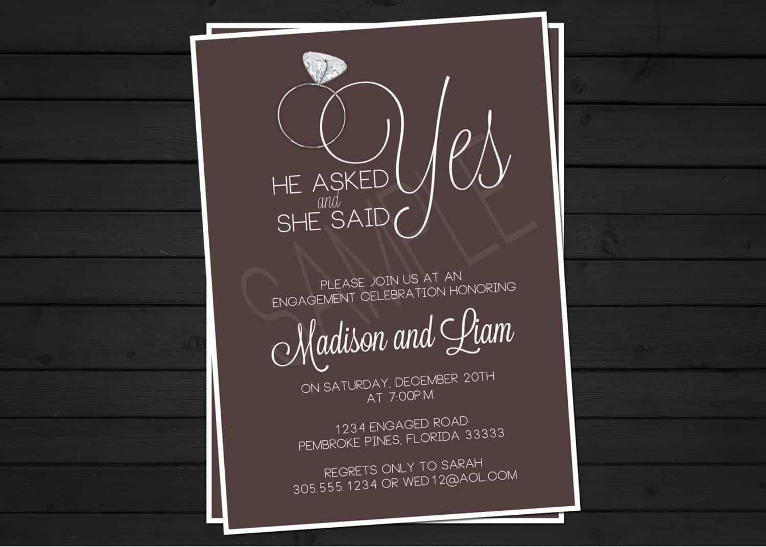 Nice Engagement Party Invitation Wording Free On A Daily Basis Billions Of Birthdays Are Celebrated And Many Events Are Thrown Of Their Honor Although Dengan Gambar Etsy