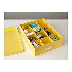 TJENA Kasten mit Fächern - gelb - IKEA