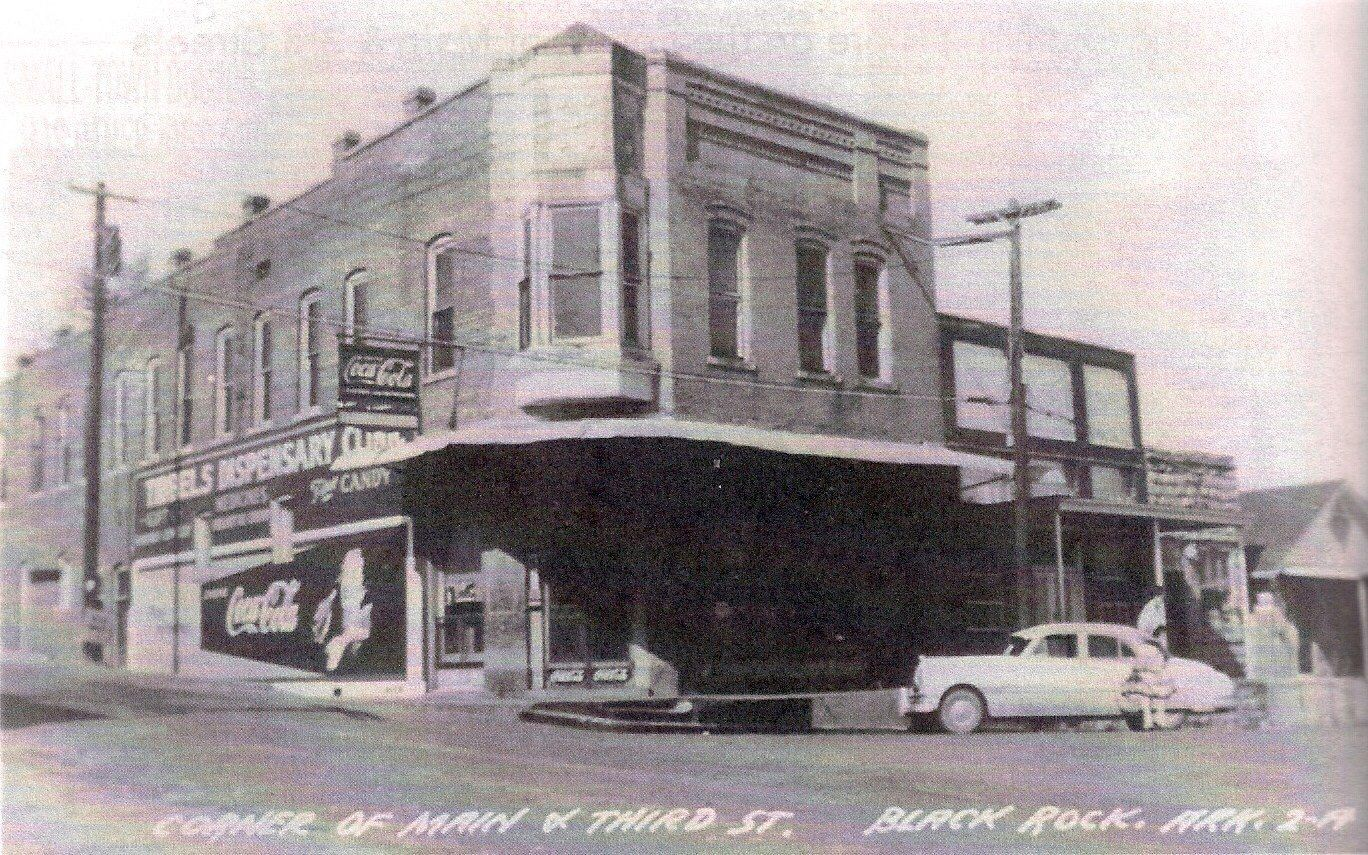 1950s corner drug store in black rock arkansas usa arkansas 3 vintage pinterest drug store. Black Bedroom Furniture Sets. Home Design Ideas