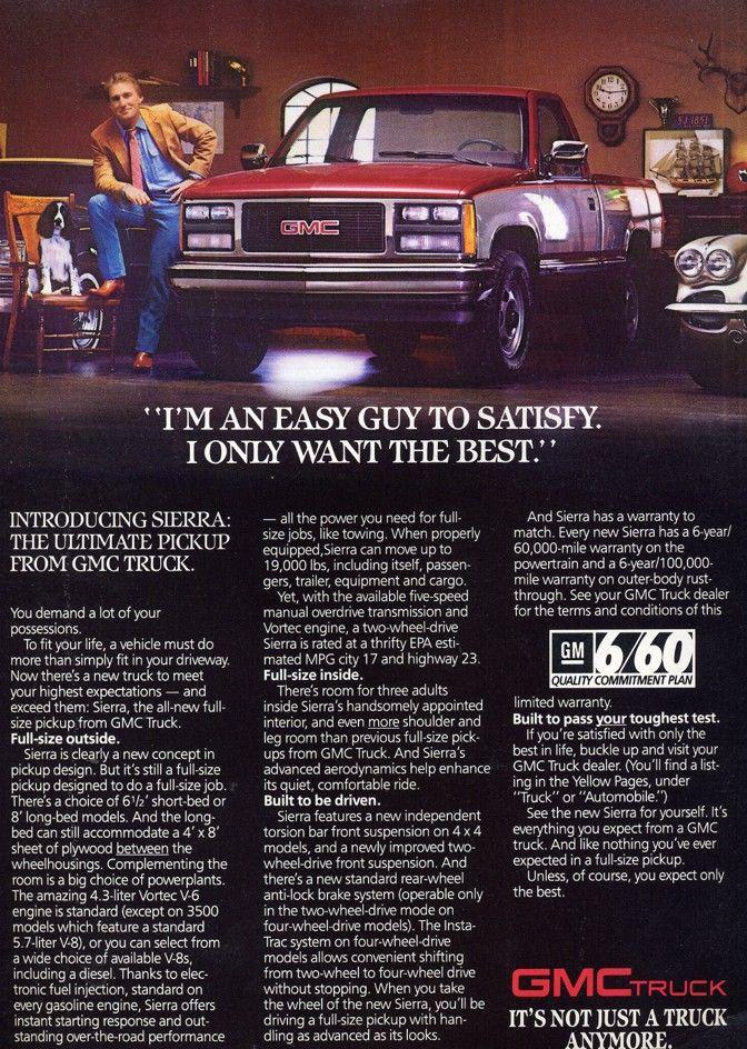Gmc Sierra Automobile Advertising Car Ads Ads