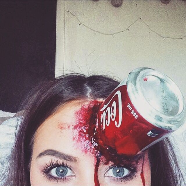 Sfx special #sfx #coke #can #blood #makeup | My Snapchat drawings ...
