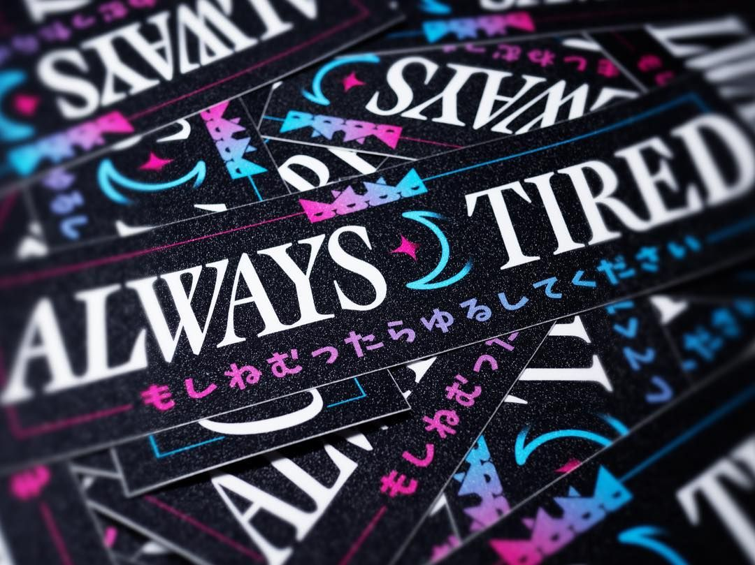 Always Tired Japanese Club Stickers Carslaps Catlover Triplecatdeluxe Jdm Cats Stickers Clubstickers Japaneseart Ja School Decal Jdm Japanese Cars [ 809 x 1080 Pixel ]