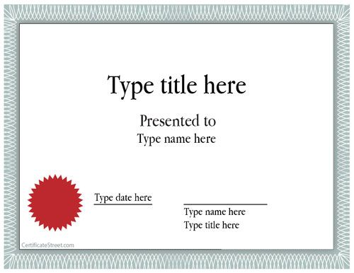 40 Free Certificate Templates word Pdf Template – Certificate Layout