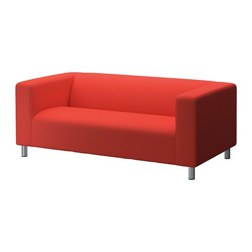 Klippan Two Seat Sofa Flackarp Red Orange