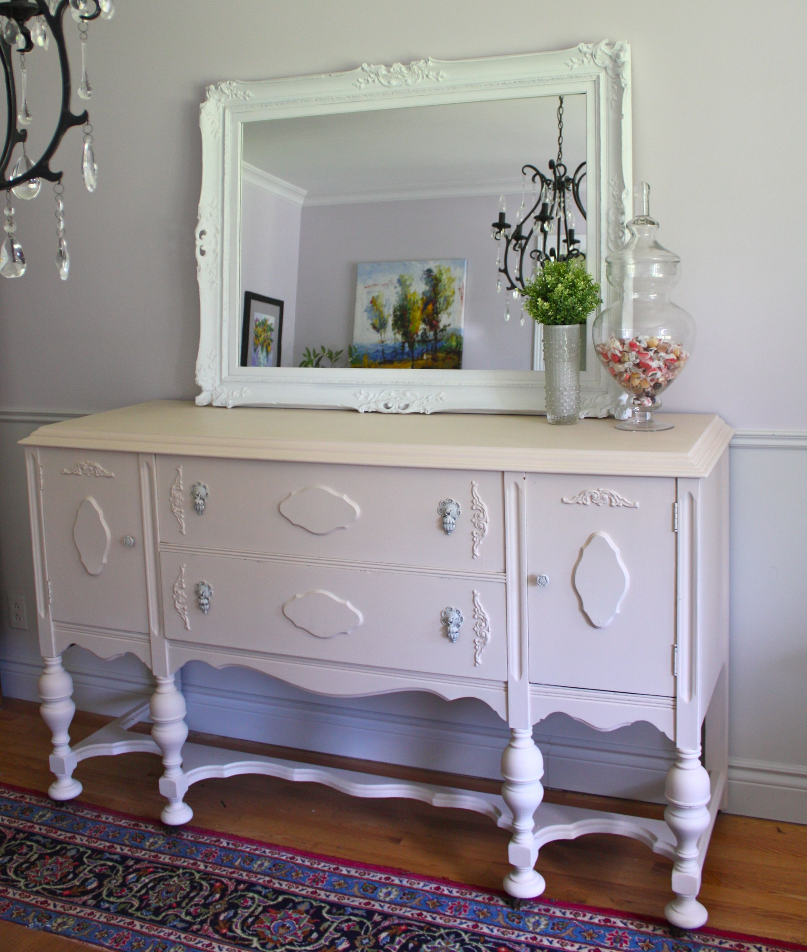 How to paint a vintage buffet home stories a to z - Antique Sideboard Buffet Painted Peach Chalk Paint The Painted Pocket
