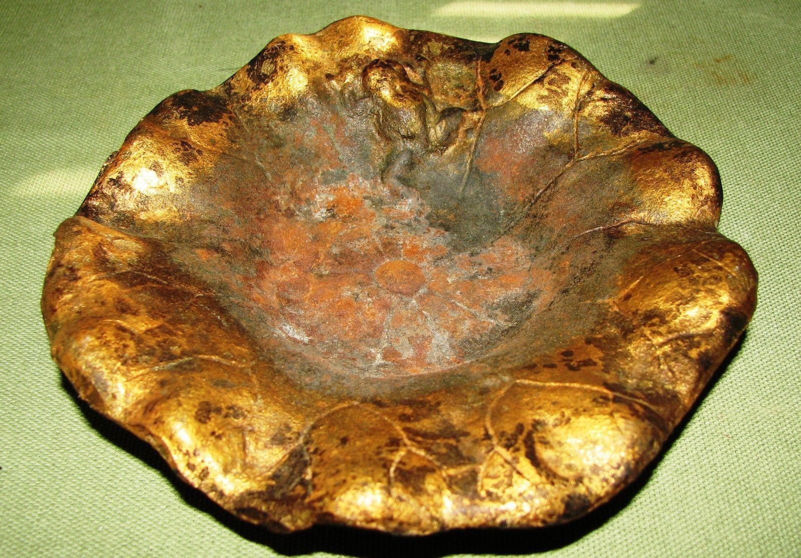 Vintage cast iron lotus flower wfrog ashtray coffee mugs vintage cast iron lotus flower wfrog ashtray izmirmasajfo