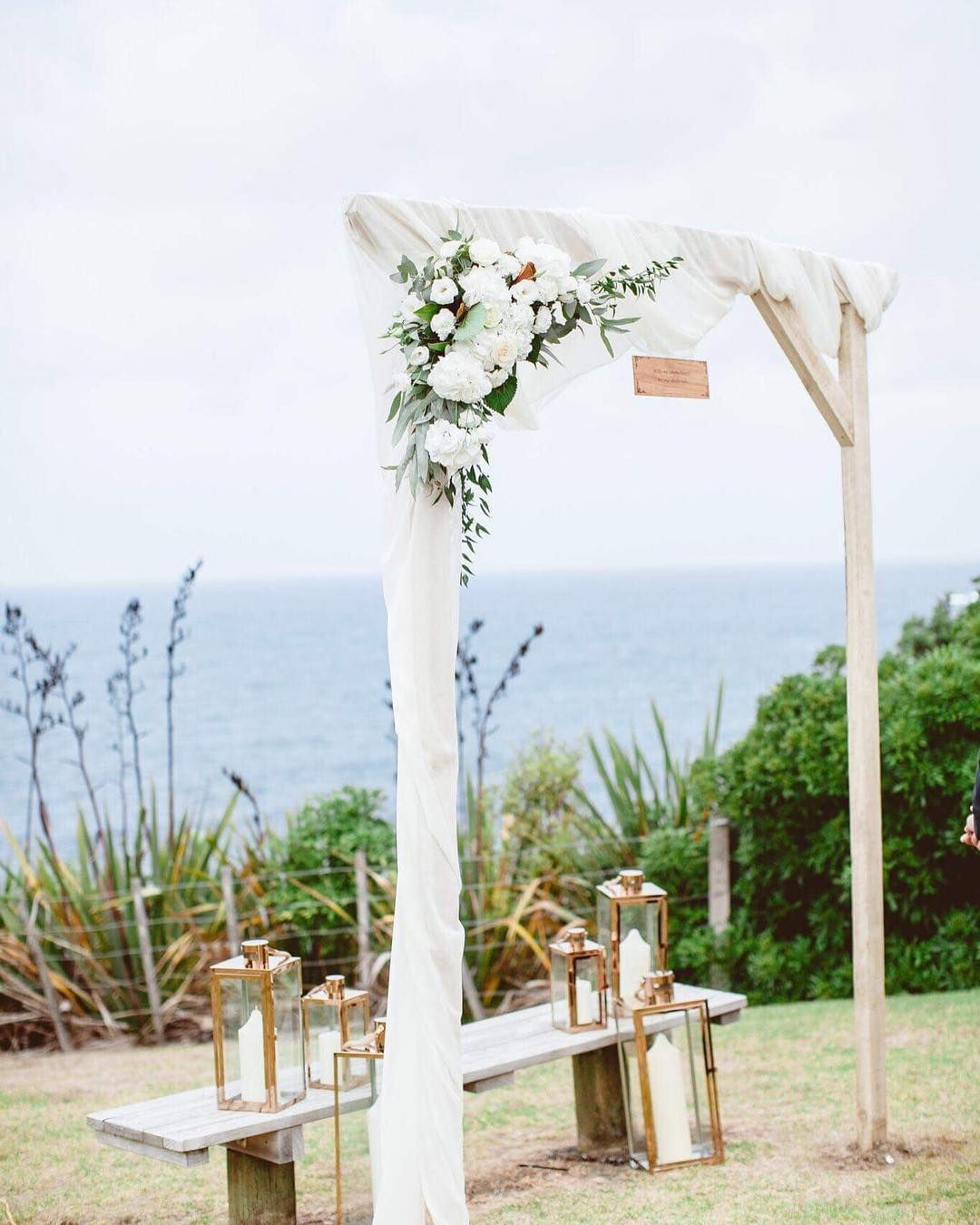 Square White Wedding Ceremony Arch Idea Little Moments Littlemomentsnz On Instagram Looking F White Wedding Ceremony Wedding Ceremony Arch Ceremony Arch