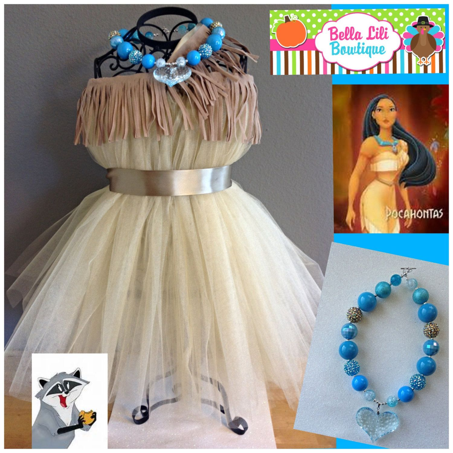 Pocahontas Inspired Native Princess Tutu Dress Costume 6mo-4t ...