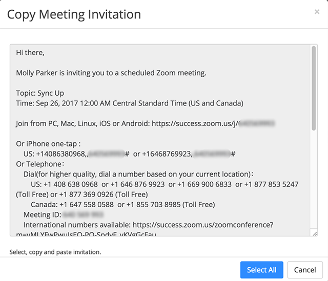 How do I invite others to join a meeting? Zoom Help