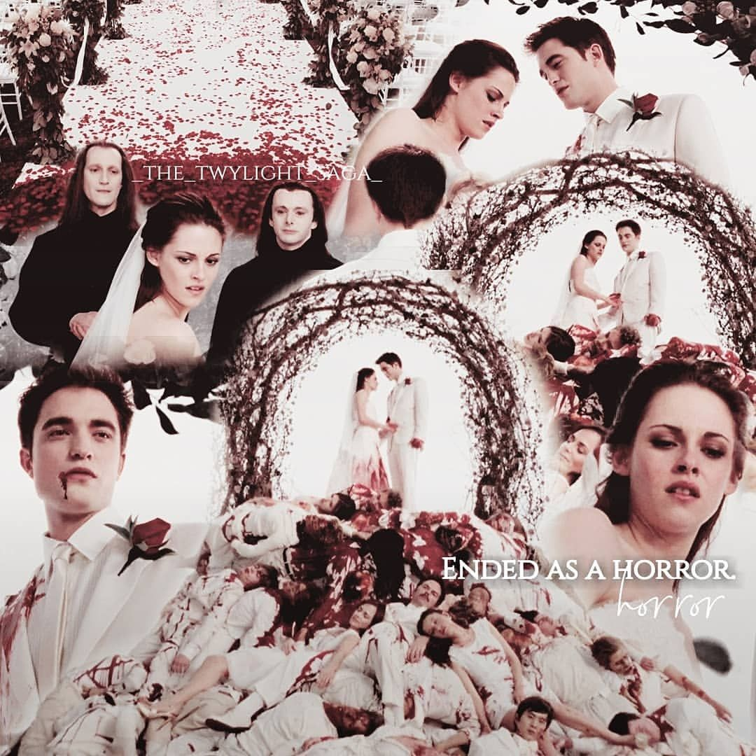 Twilight Saga Tren Instagram What Started As A Fairytaile Ended As A Horror Did You Prefer The Nightmare Wedding Or The Real Wedding Twilig