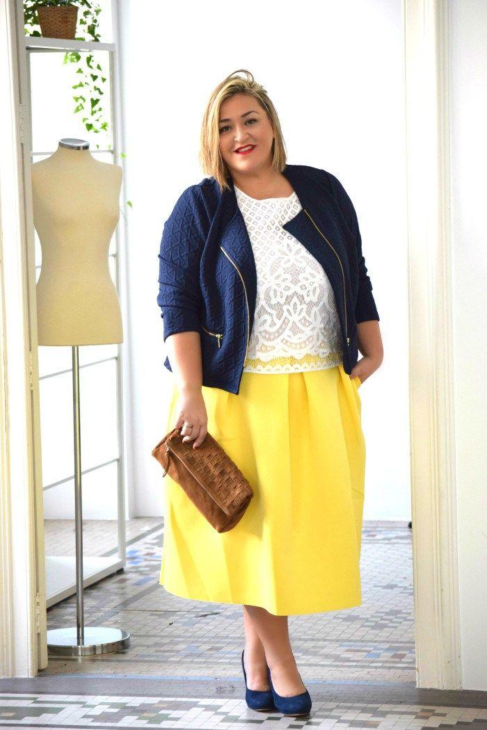 Falda Amarilla Faldas Amarillas Ropa Elegante Para Gorditas Moda Para Gorditas