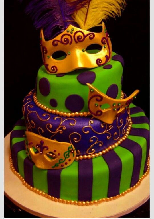 The Knowles Masquerade Party With Images Mardi Gras Cake