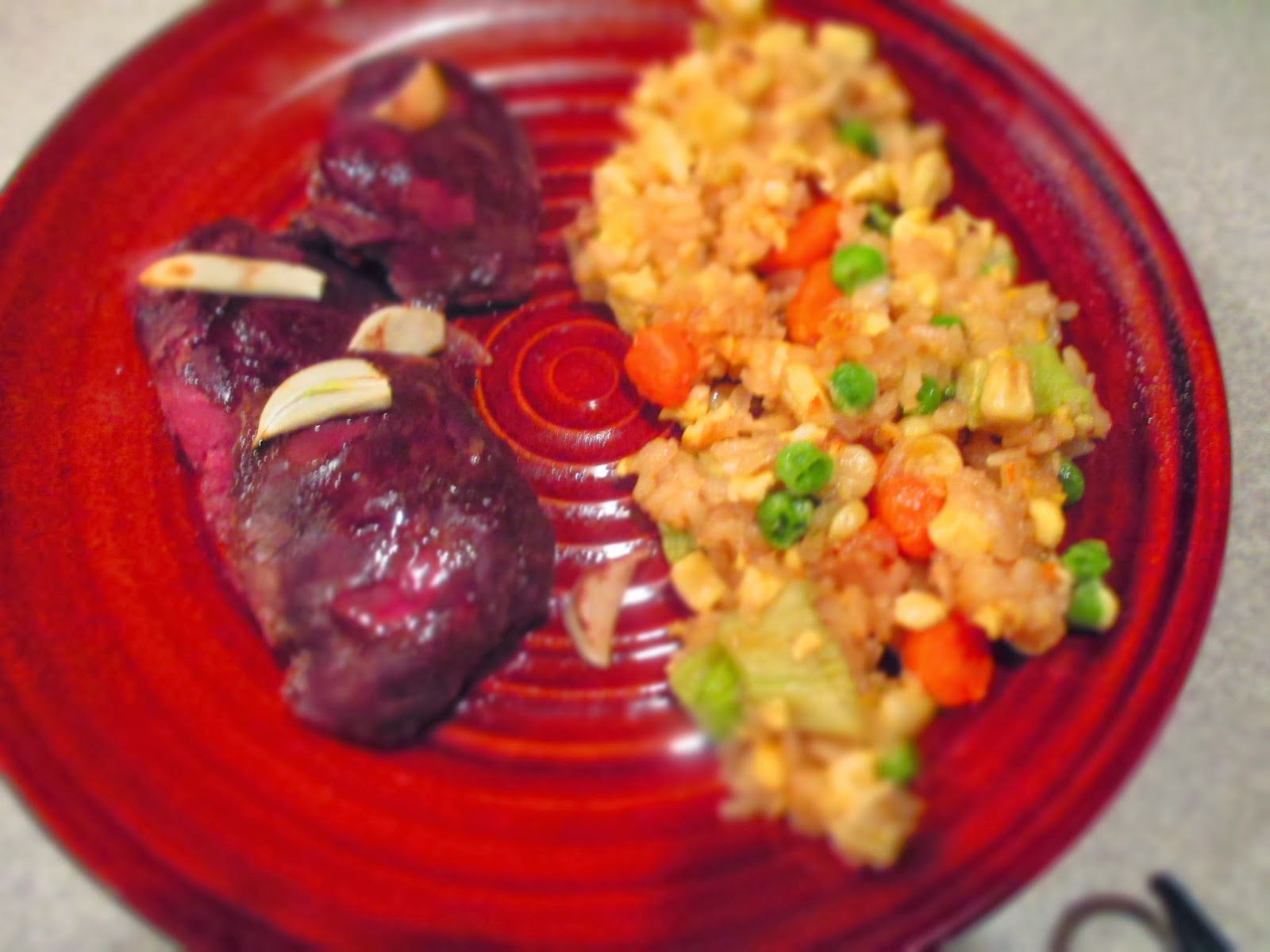 Garlic Duck and Lazy Fried Rice- obtainable table