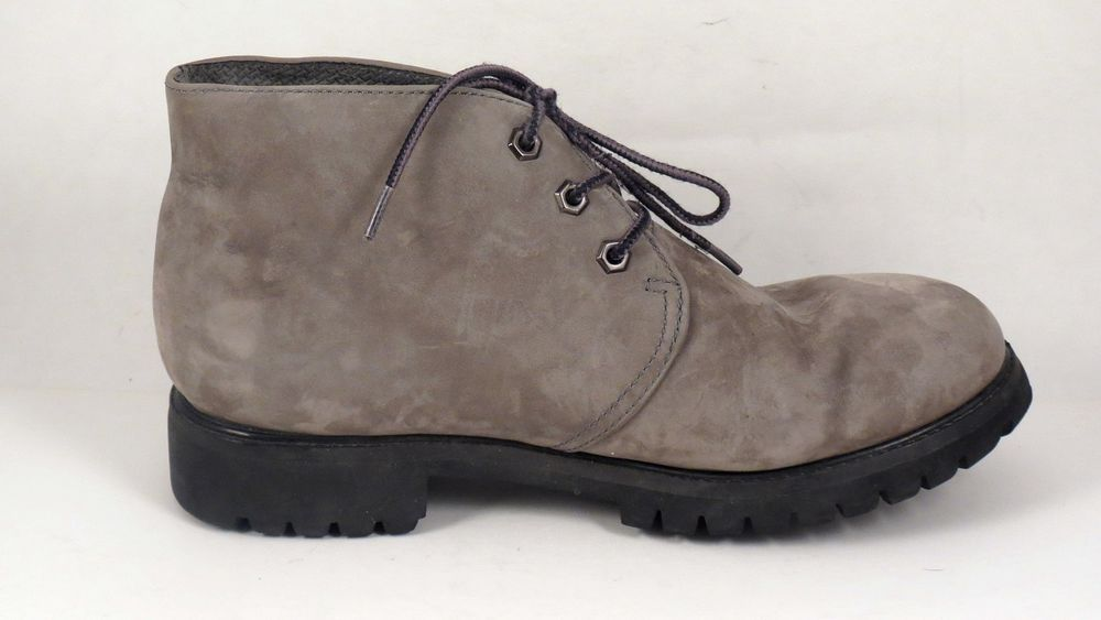 COLORADO MEN'S GRAY LEATHER CASUAL HIKING WALKING DESERT BOOTS SIZE 9.5 D #Colorado #HikingTrail