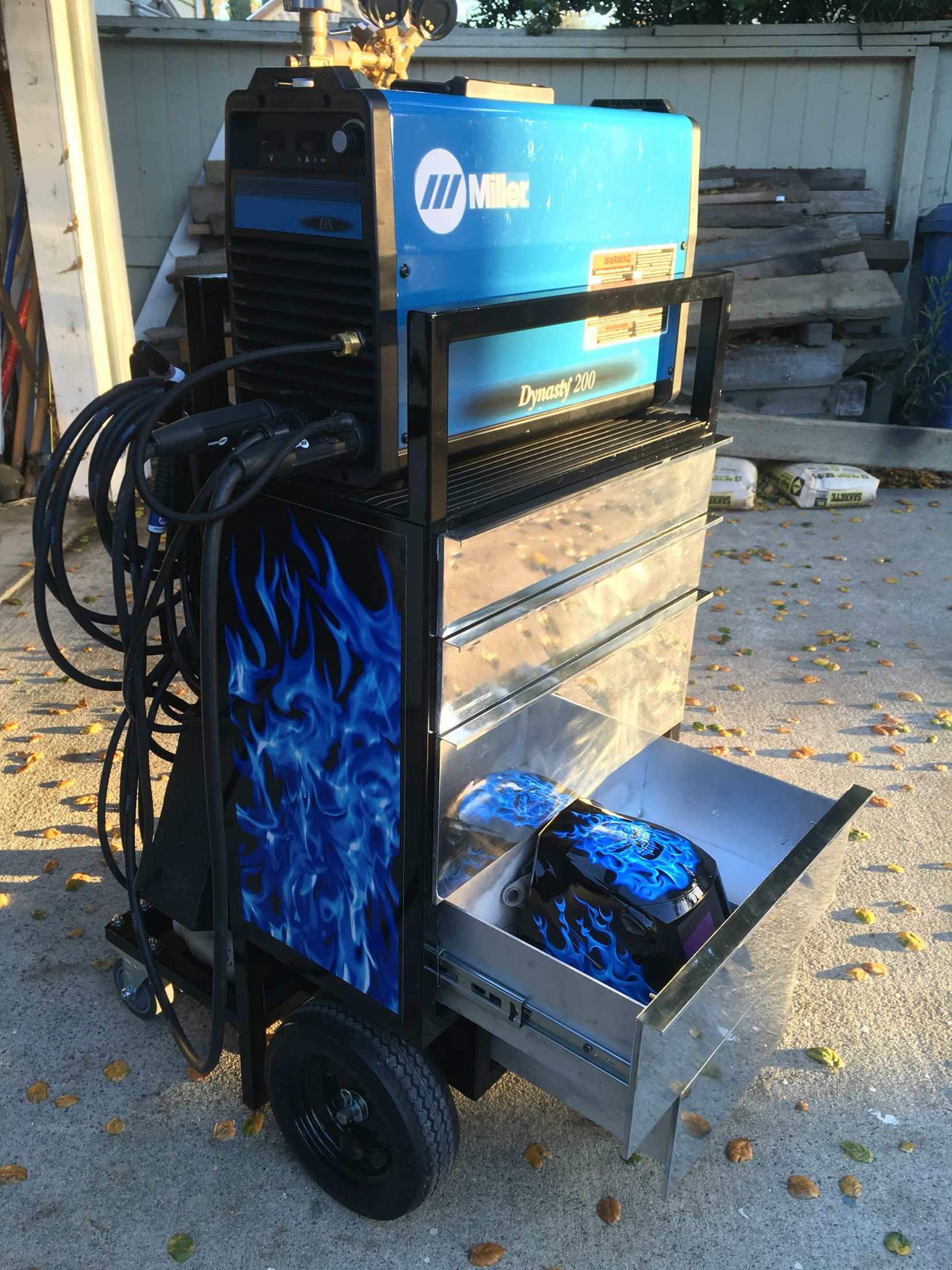 Custom Tig Welding Cart With Aluminum Drawers And Custom