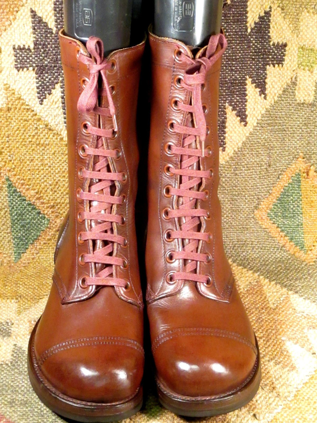 Handmade Men Brown Combat Boot Men S Lace Up Military Boot Men S Leather Boot Mens Boots Fashion Boots Outfit Men Brown Combat Boots