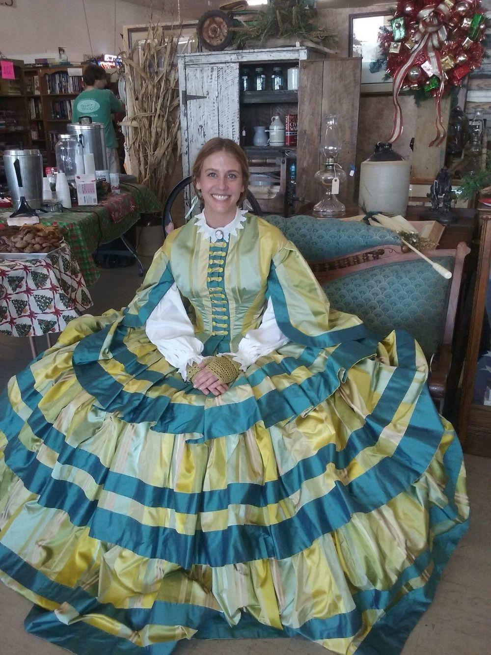 silk taffeta, at the antique mall in wetumpka al. dress is
