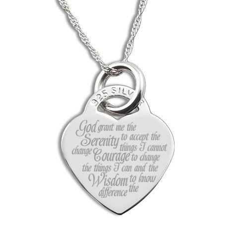 Serenity prayer sterling silver heart by jewelrypersonalised 3799 serenity prayer sterling silver heart by jewelrypersonalised 3799 mozeypictures Image collections