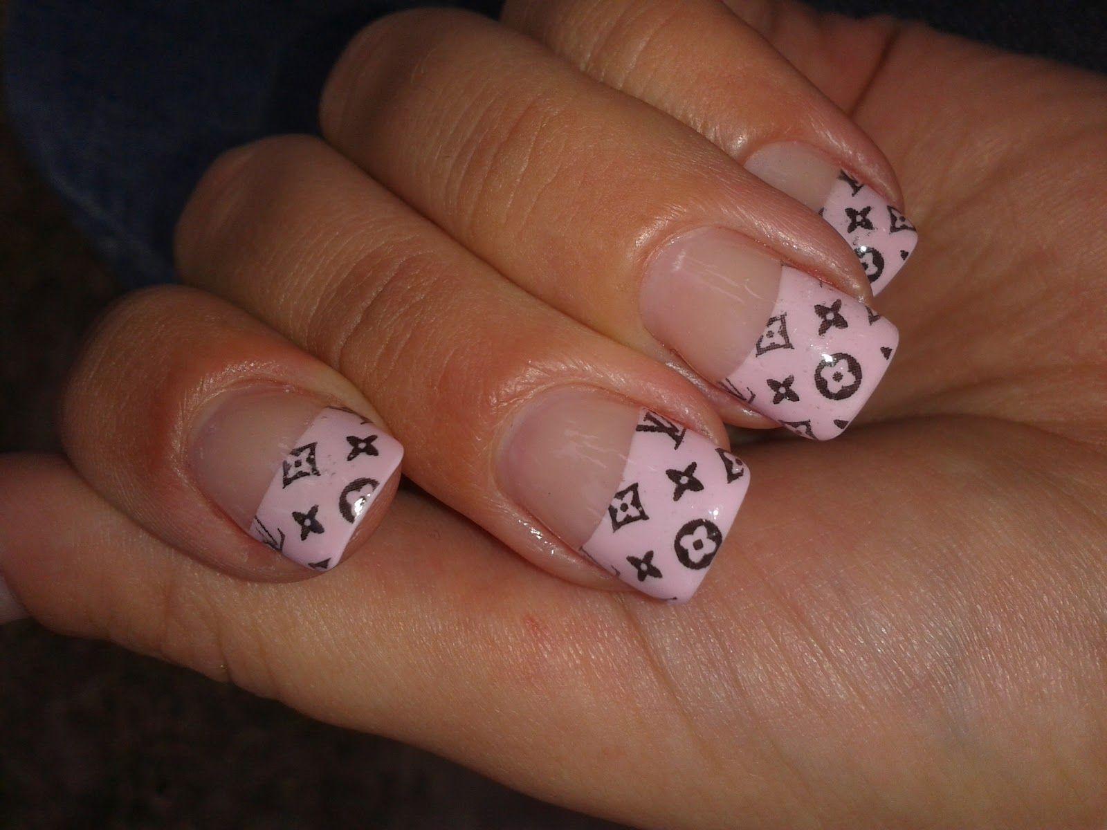 Louis Vuitton Designer Nail Tips | Tinas Strudel: Louis ...