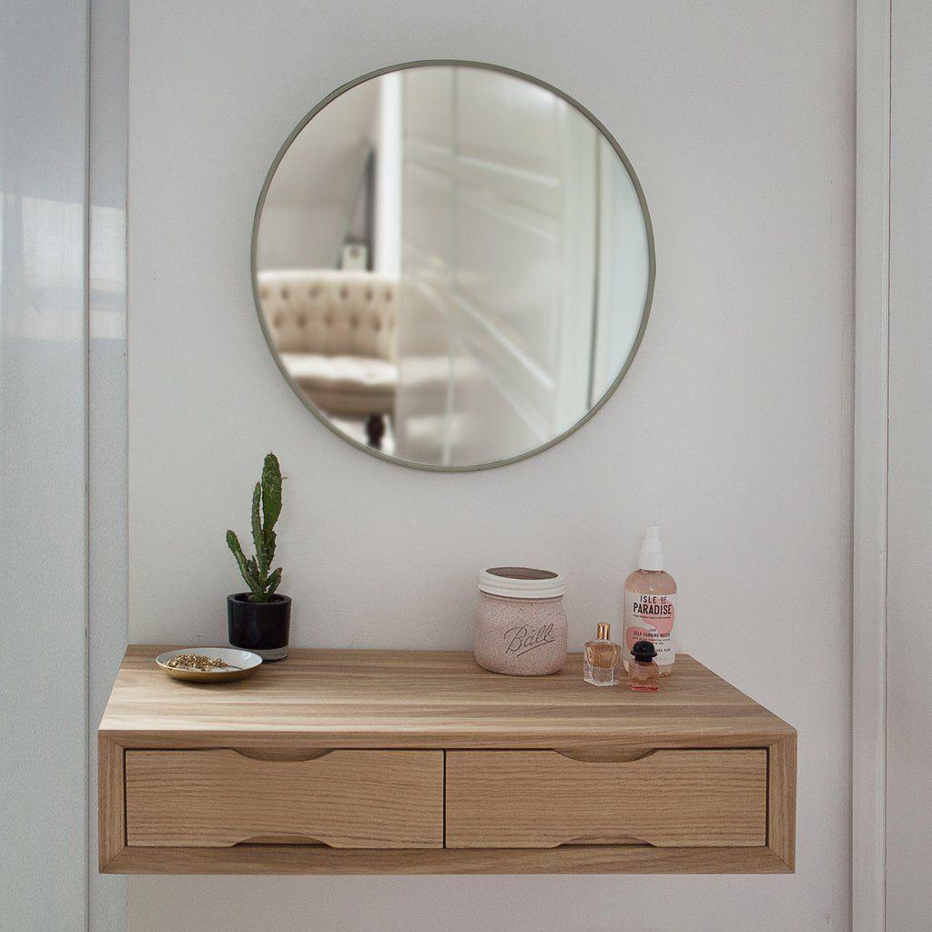 Best Oak Floating Dressing Table In 2020 Simple Dressing 640 x 480
