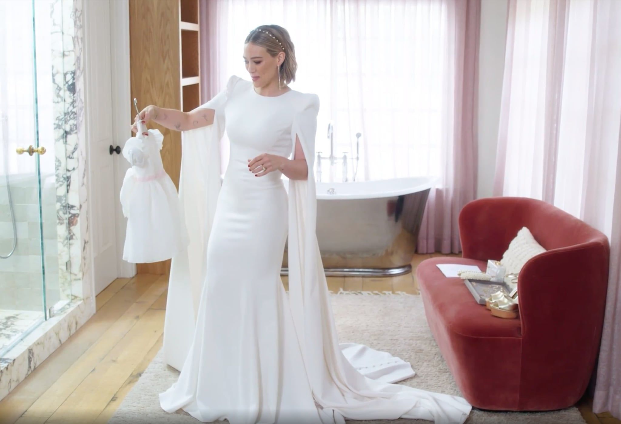 Photo of Hilary Duff's Wedding Dress Featured the Sweetest Hidden Shout-Out to Her Kids