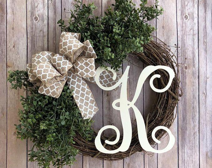 Photo of Farmhouse wreath, rustic wreath – country, burlap wreath, farmhouse decor burlap, wreath, farm decor