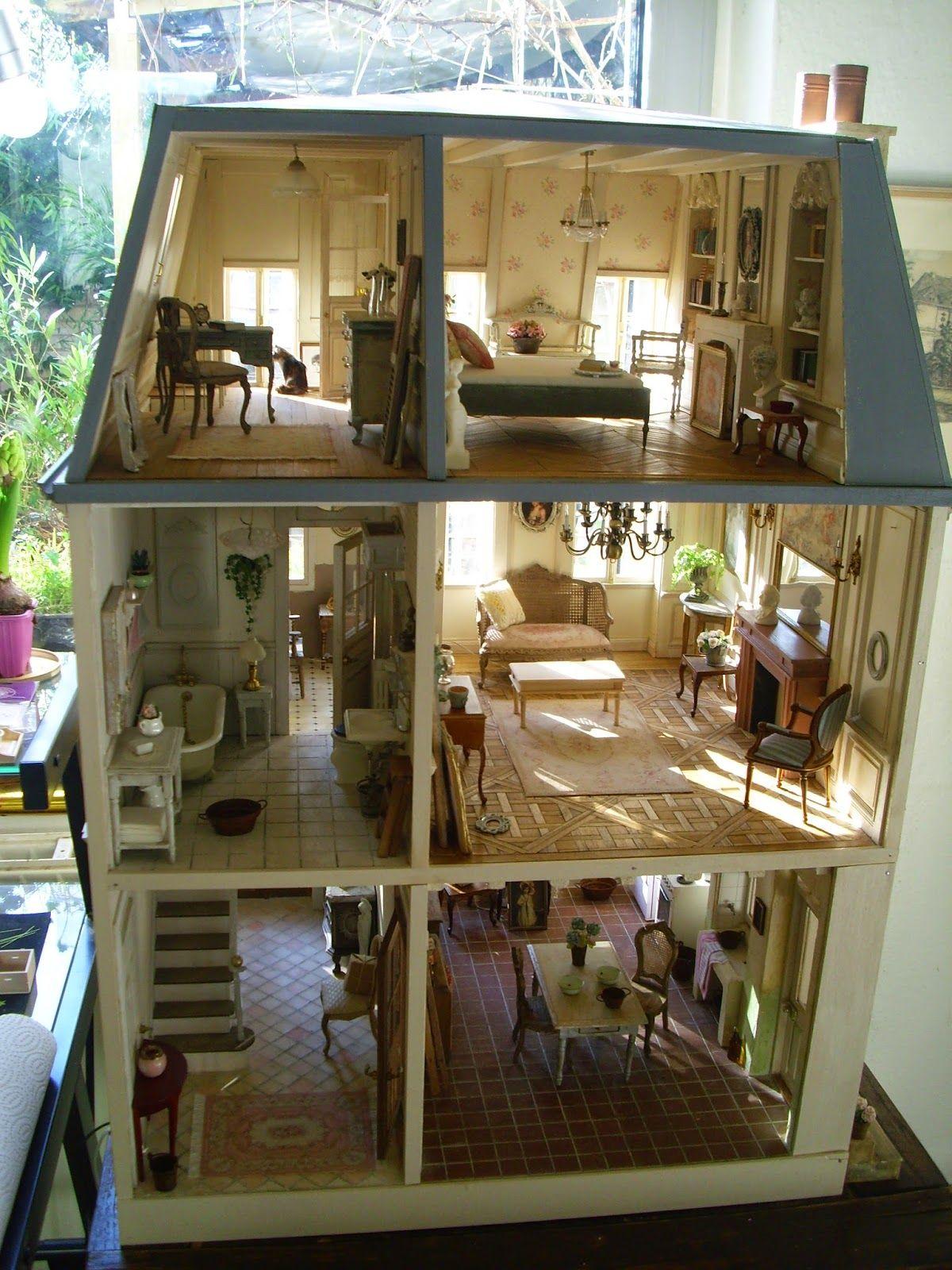 le grand livre de la maison miniature the big book of a. Black Bedroom Furniture Sets. Home Design Ideas