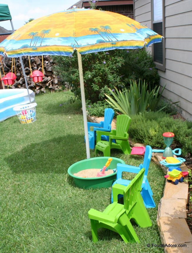 Great idea for an outside birthday party for preschoolers DIY