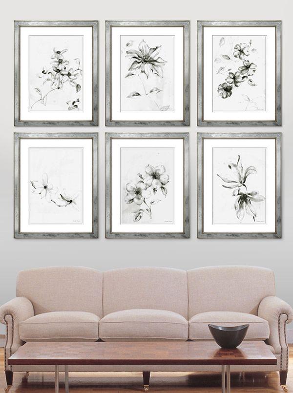 TROWBRIDGE - Elizabeth Ockford Florals in mirrored frames series of ...