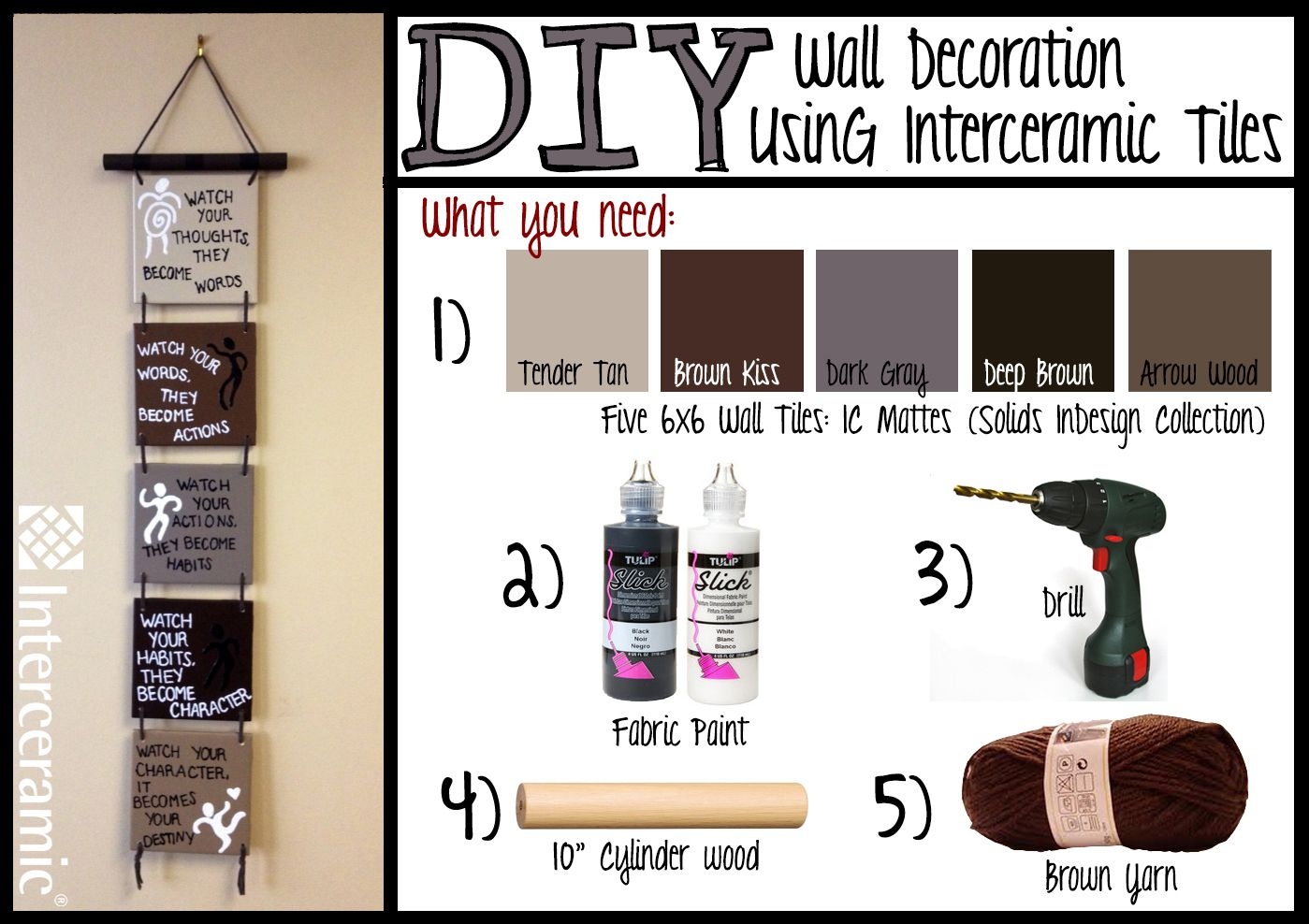 Itus time to be creative wall decoration dyi using interceramic
