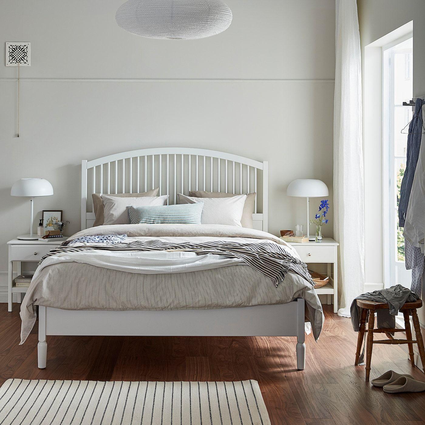 Tyssedal Cadre De Lit Blanc 140x200 Cm Ikea White Bed Frame Bed Frame Ikea Tyssedal