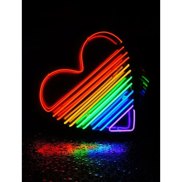 LOVENEON Rainbow Heart Neon Wall Lamp ($5,835) Liked On