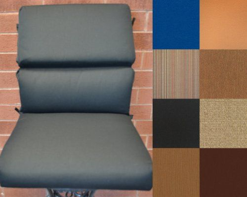 (CLICK IMAGE TWICE FOR UPDATED PRICING AND INFO) #home #cushions #homeimprovement #outdoor #patio #chair #chaircushions #replacamentcushion #patiochaircushion  see more chair cushions at http://zpatiofurniture.com/category/patio-furniture-categories/patio-chair-cushions/ - 20(w) 44(d) 4(h) – ONE Outdoor 20″ SEAT & BACK Deep Seating Club Chair Cushions, Black (Sunbrella 5408) « zPatioFurniture.com