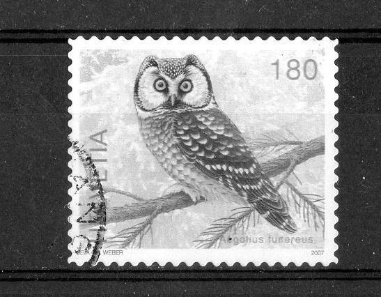 Owl Post Stamp Switserland