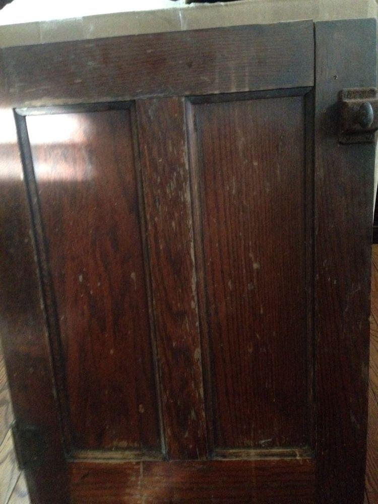 Antique Salvage Oak Panel Cabinet Door Architectural Kitchen Early 1900u0027s  #2 #Unknown