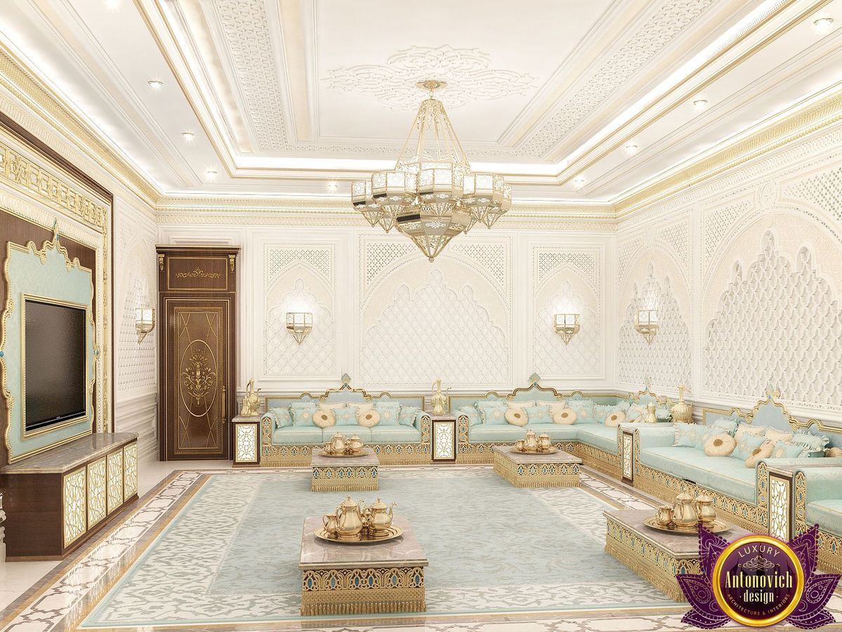 Interior design concept of majlis based on a combination of modern ...