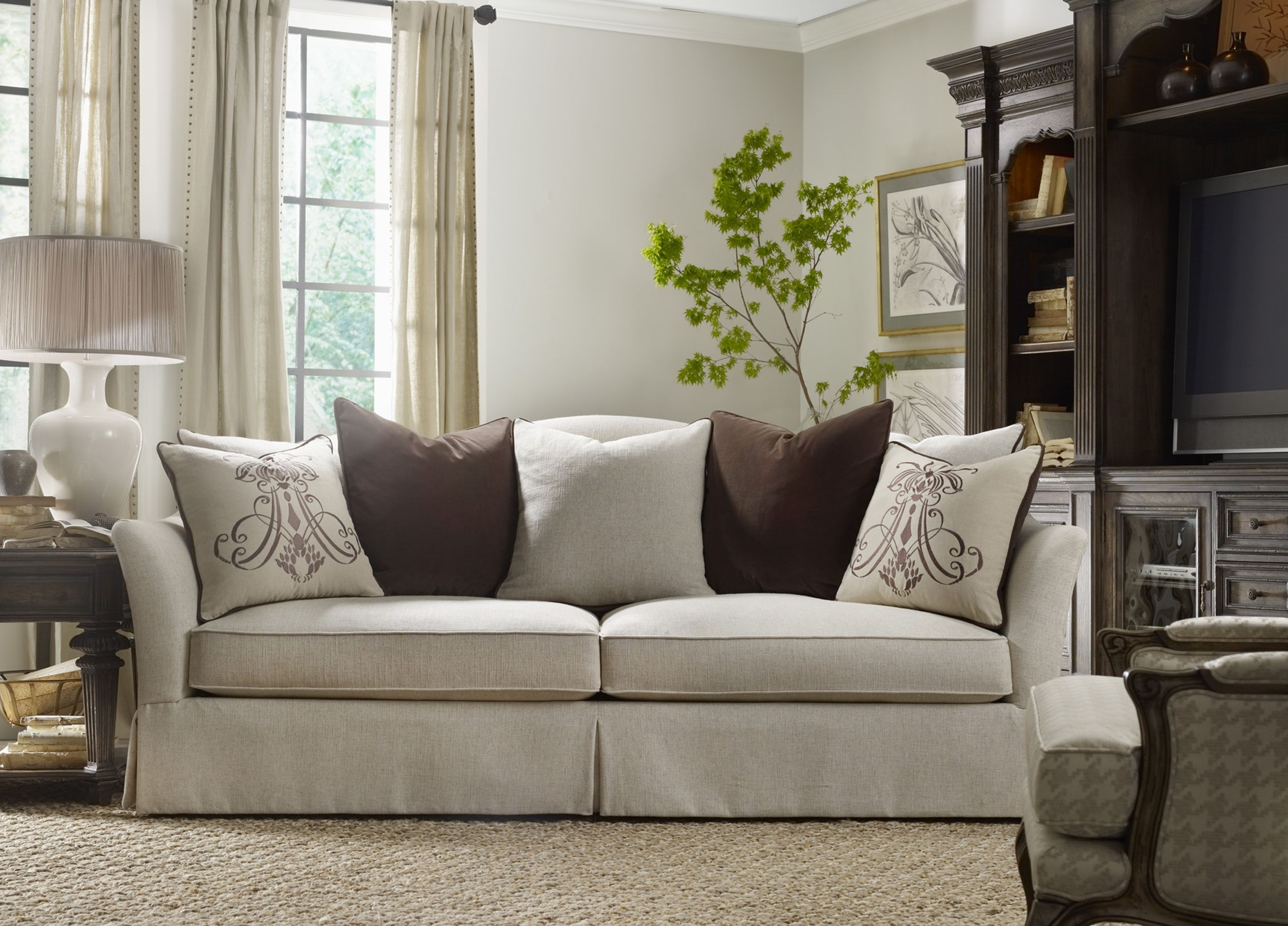 Best The Beauty Of A White Sofa And Oversized Pillows 400 x 300