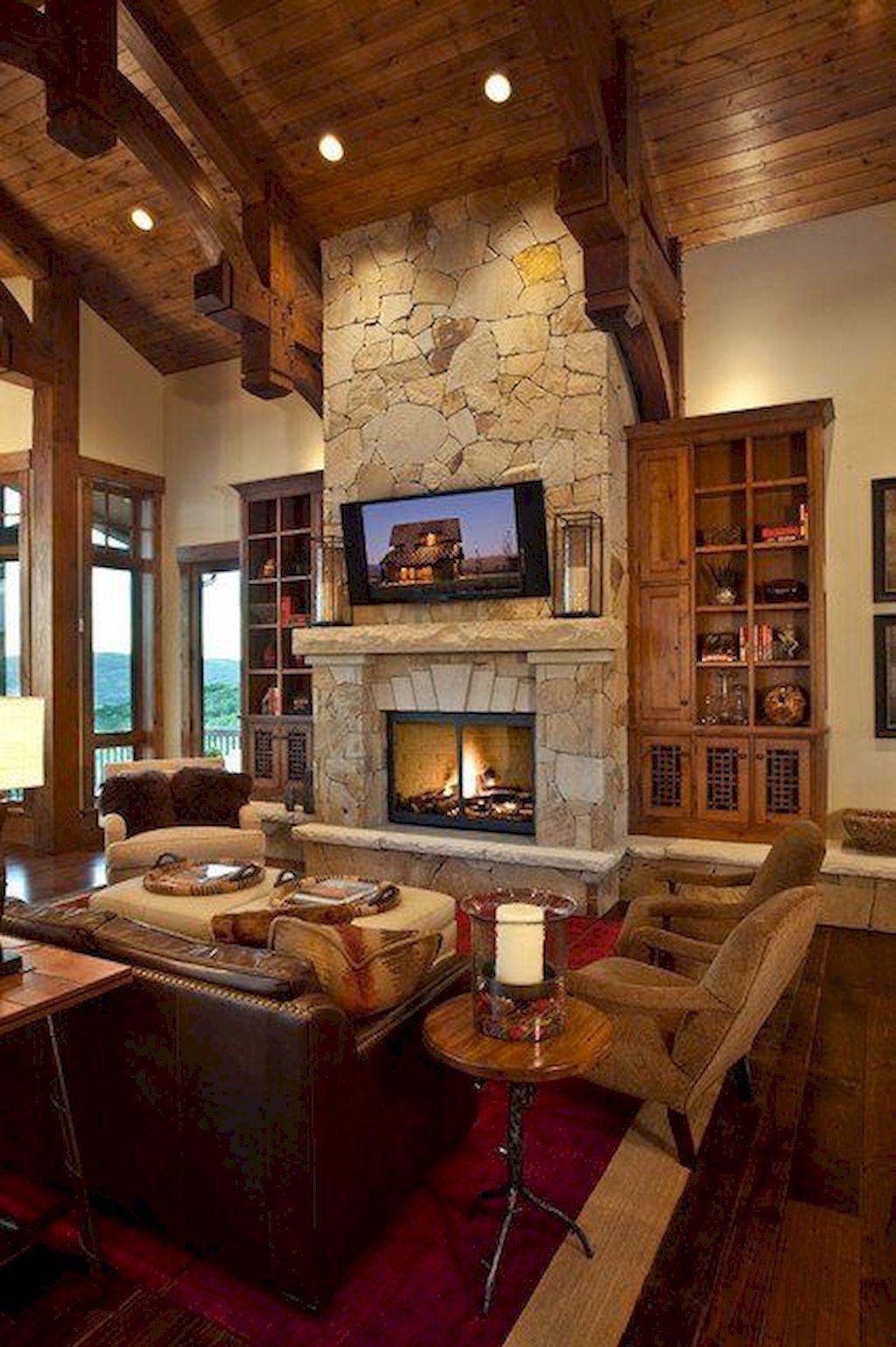13 cozy farmhouse living room decor ideas | Rustic living ...