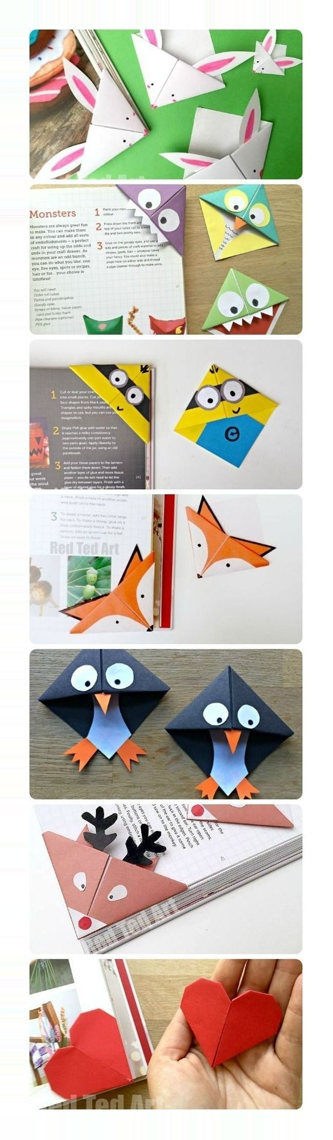 #Crafty Projekte bekommen #creative #ideas #school #students 25 Creative Back to School Ideas For Students Cute Corner Bookmarks.