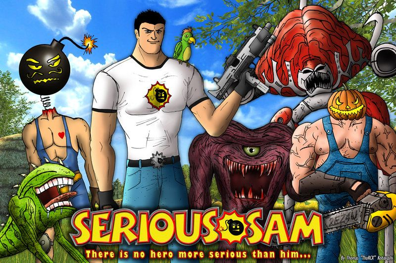 Serious Sam And Friends By Thorcx On Deviantart Serious Sam Funny Games Fallen London