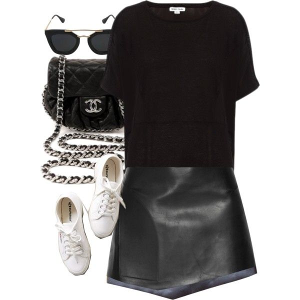 Untitled #3209 by amyn99 on Polyvore featuring polyvore, fashion, style, Esteban Cortazar, Superga and Chanel