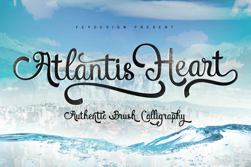 Atlantis Heart Font | dafont com | Fonts | Heart font, Best fonts