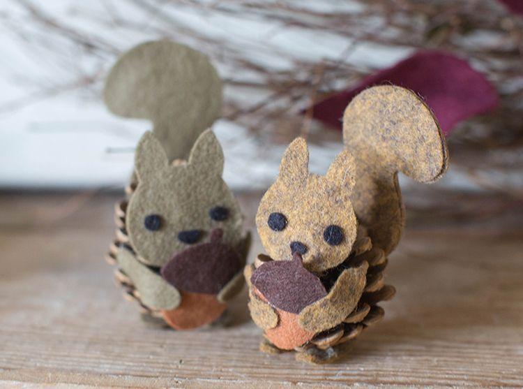 Eichhörnchen basteln: Zaubern Sie mit Kindern niedliche Tierfiguren