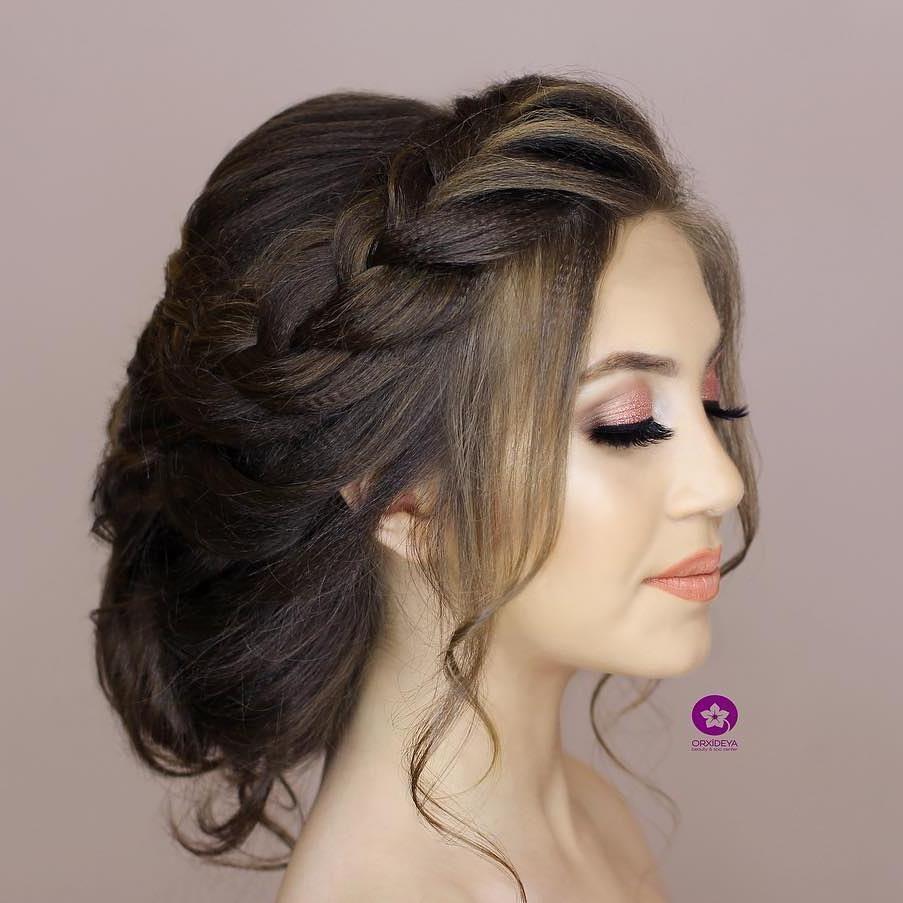 Sac Turac Pricheska Ot Turach Hair Style By Turaj Tel 012 570 18 10 051 281 03 67 Orxideyabeauty Vip Hairstyle Svadba Baku Hair Styles Hair Style