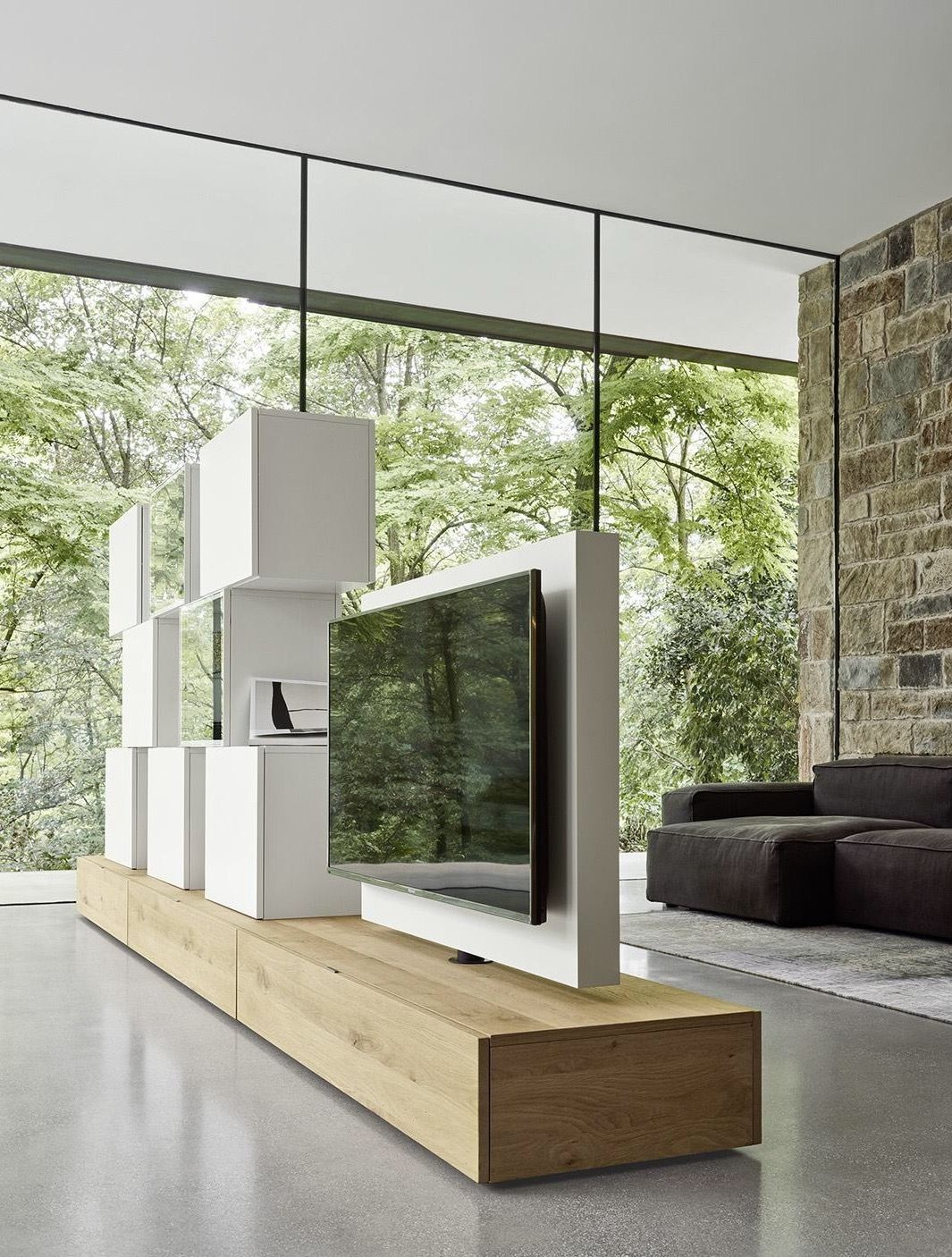 Fernsehmöbel Mit Lift 23 Best Modern Room Dividers You Ll Love Living Room Tv Wall