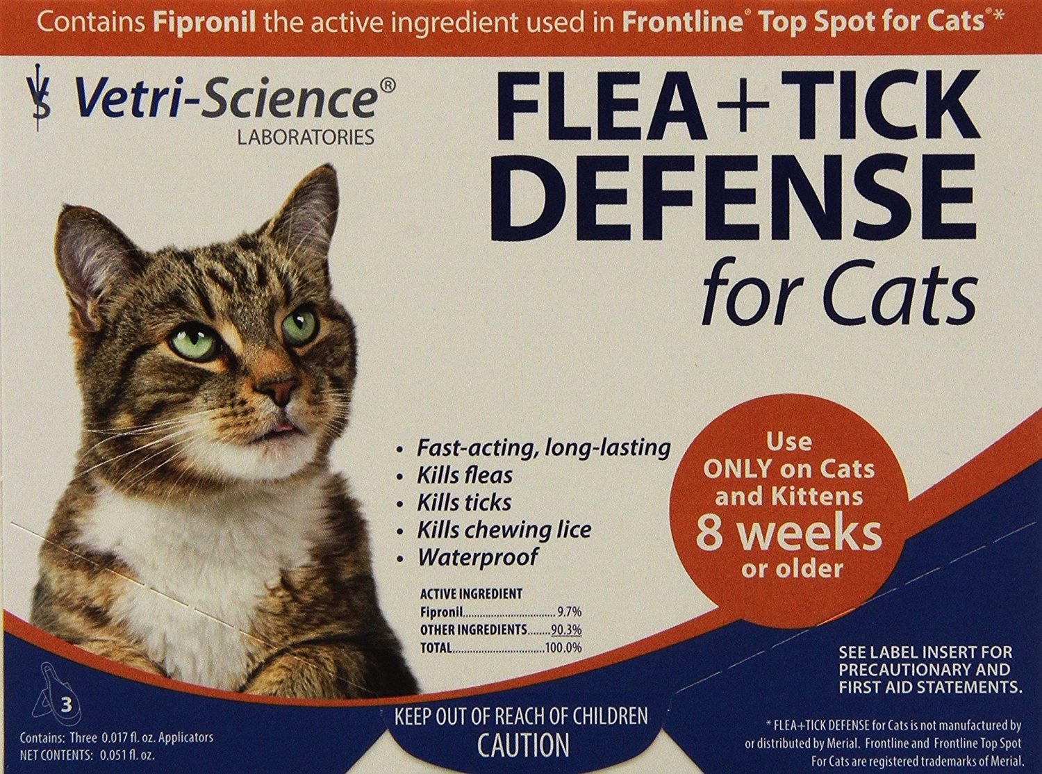 Vetriscience Laboratories Flea And Tick Defense For Cats And Kittens 12 Doses Click Image To Review More Details This Is An Cat Fleas Fleas Flea And Tick