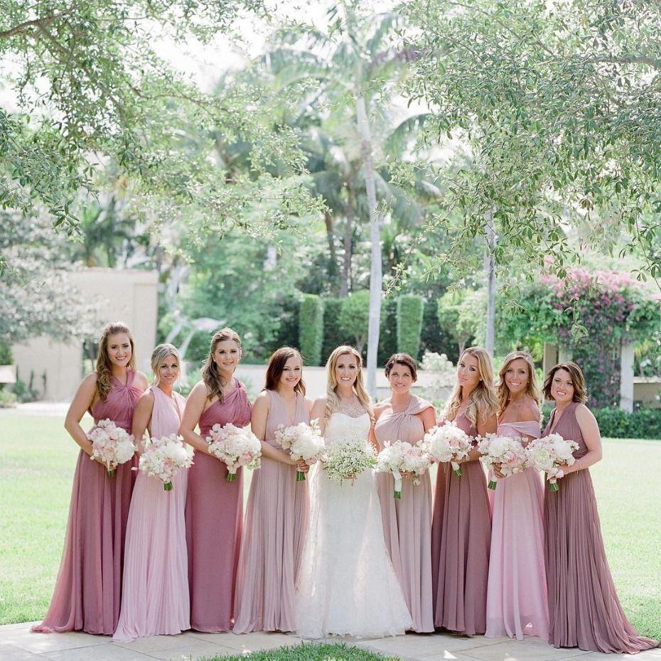 15+ Pastel pink bridesmaid dress ideas